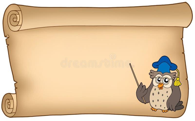 stary sowy pergaminu nauczyciel ilustracja wektor