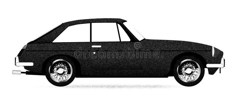 Stary sporta samochodu Coupe ilustracji