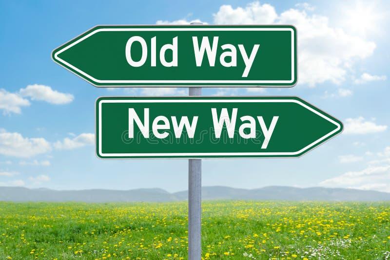 Stary sposób lub Nowy sposób obrazy stock