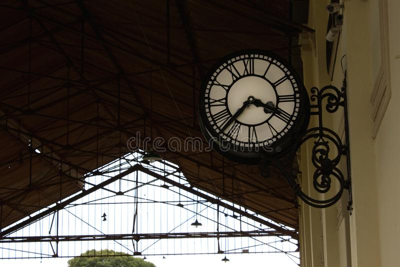 Stary stacja zegar fotografia royalty free