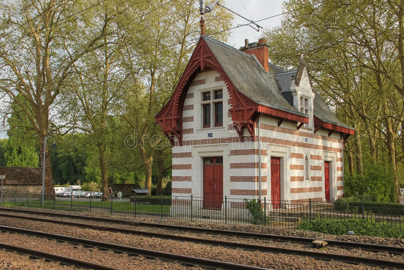 stary stacji pociągu Chenonceau Francja zdjęcia stock