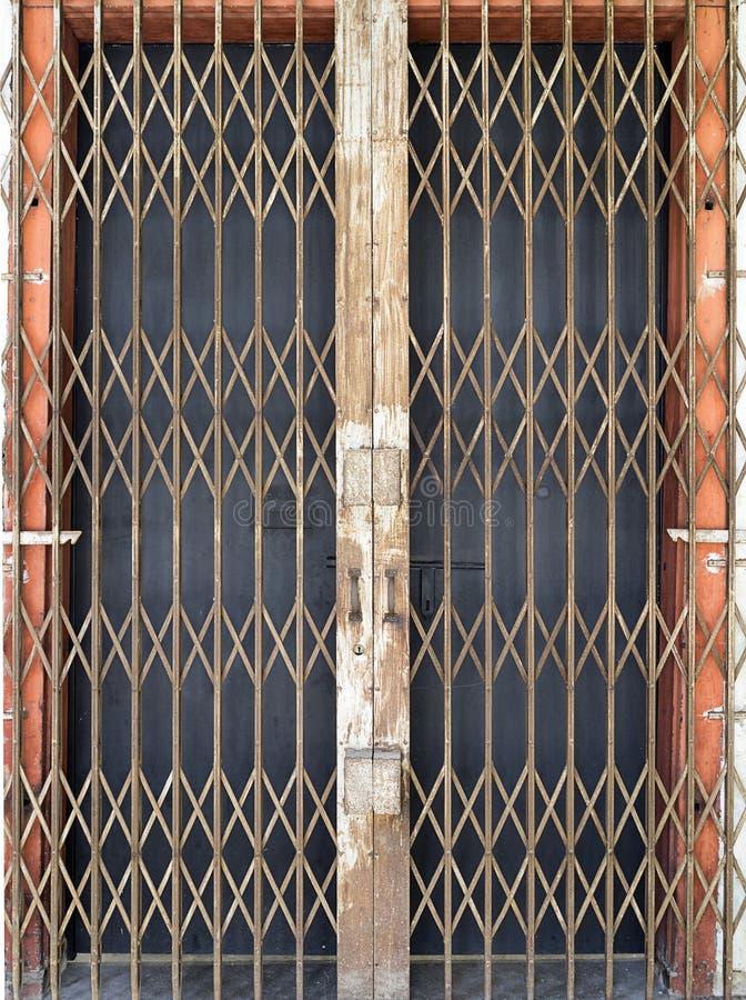 Stary stalowy drzwi w Georgetown fotografia stock