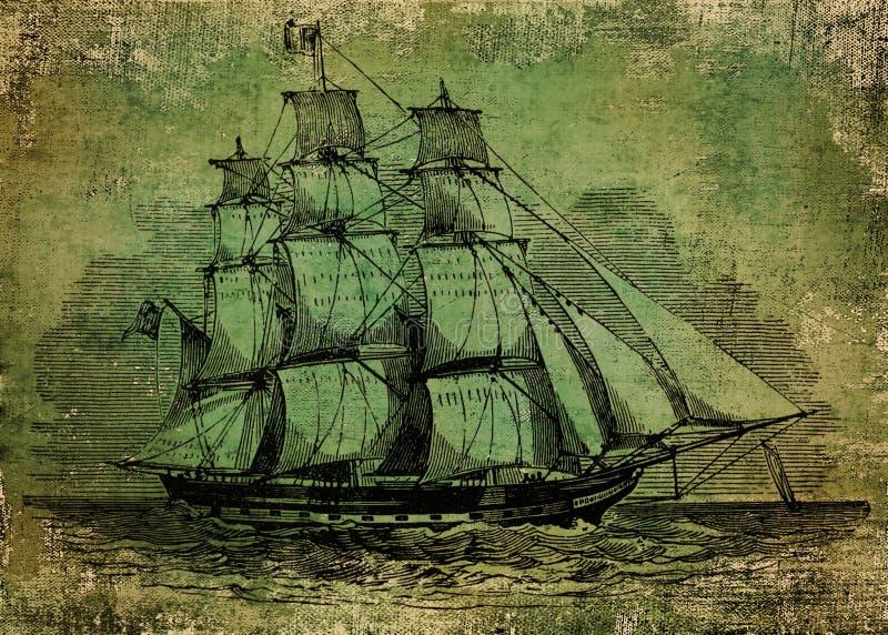stary statek royalty ilustracja