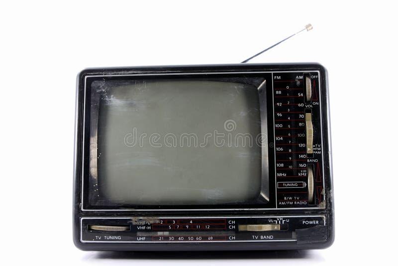 stary styl tv obraz stock