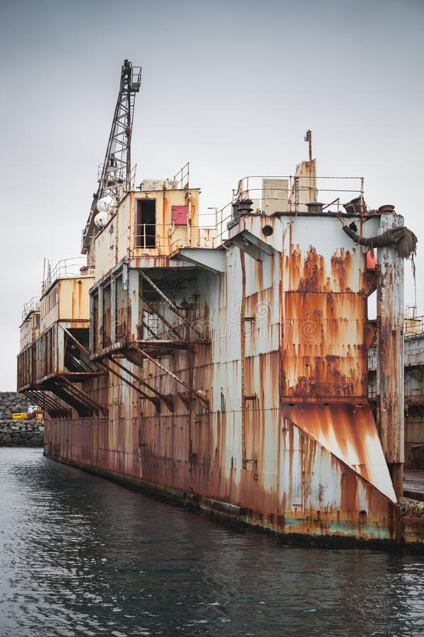 Stary suchy dok, stocznia w porcie Hafnarfjordur obrazy stock