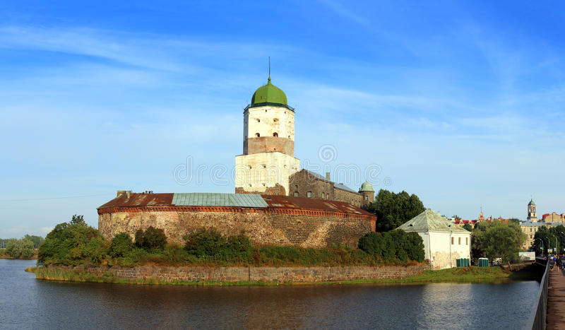 Stary Sweden kasztel na wyspie w Vyborg Russia obrazy royalty free
