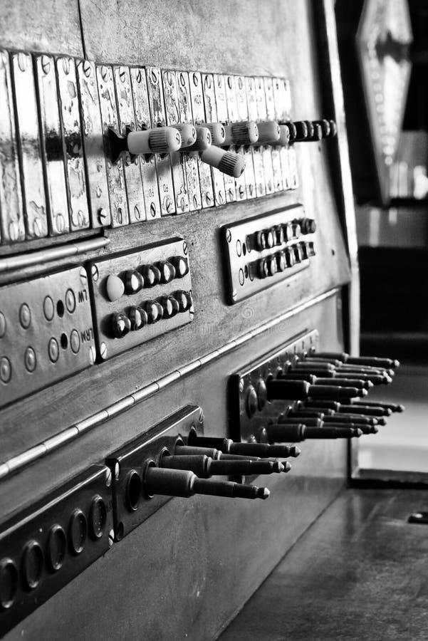 Stary switchboard zdjęcie royalty free