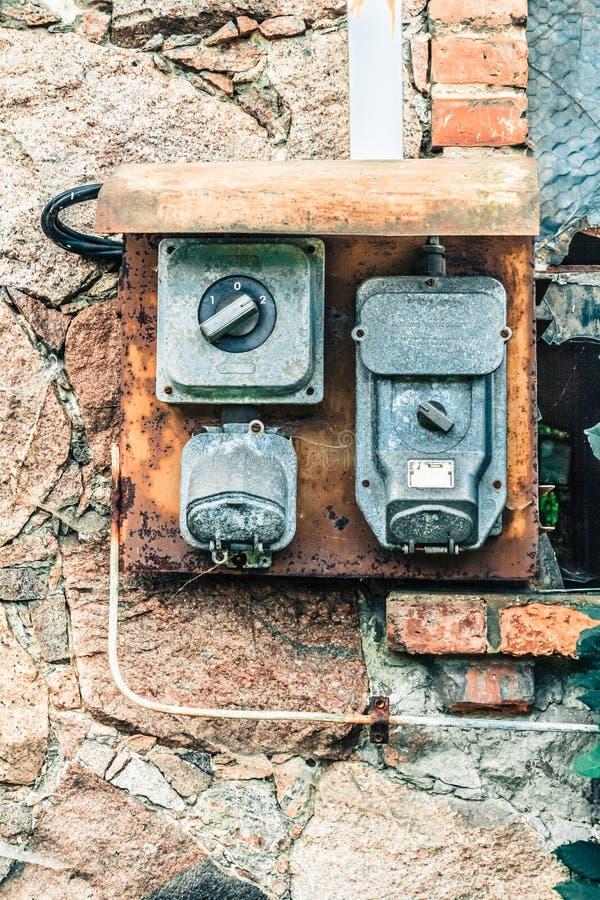 Stary switchboard w gospodarstwie rolnym zdjęcia royalty free