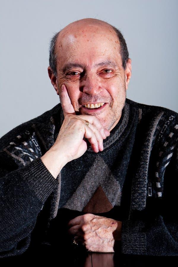 stary szczęśliwy twarz mężczyzna zdjęcia royalty free