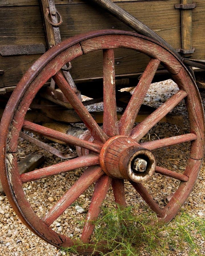stary szprych furgonu koło drewniany fotografia royalty free