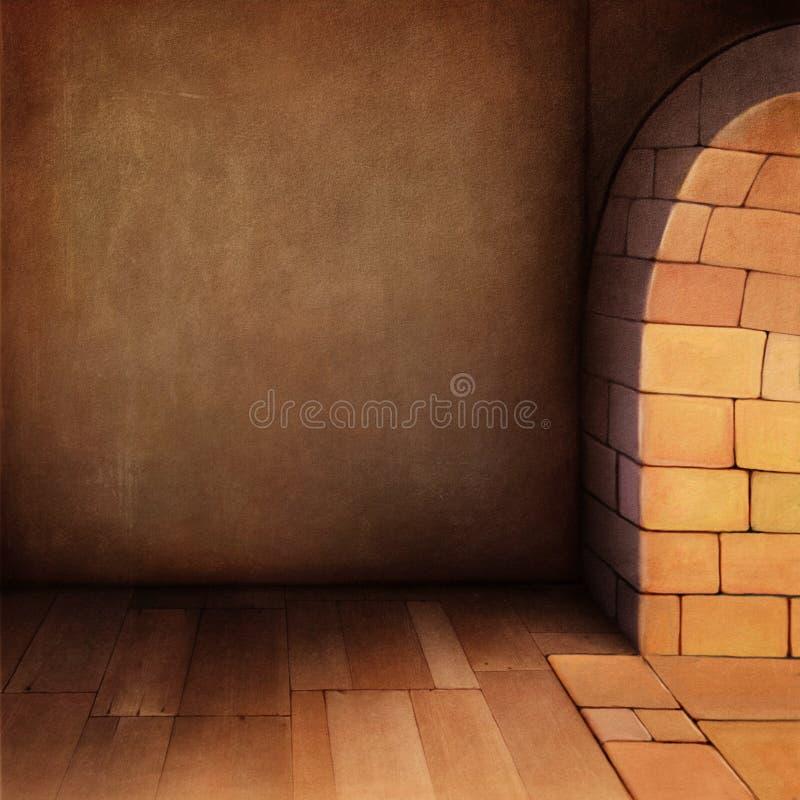 stary tło pokój ilustracja wektor