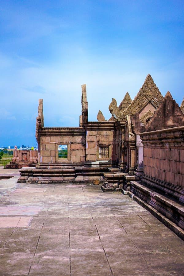 Stary Tajlandia rocznik, antyczny budynek/tworzymy czerwoną cegłą obrazy royalty free