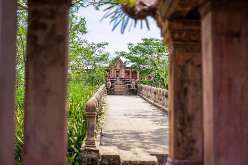 Stary Tajlandia rocznik, antyczny budynek/tworzymy czerwoną cegłą obraz stock