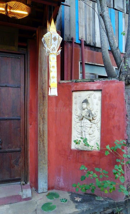Stary Tajlandzki domowy entance deco fotografia royalty free