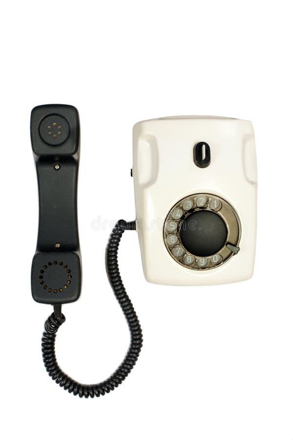 Stary talerzowy telefon obrazy royalty free