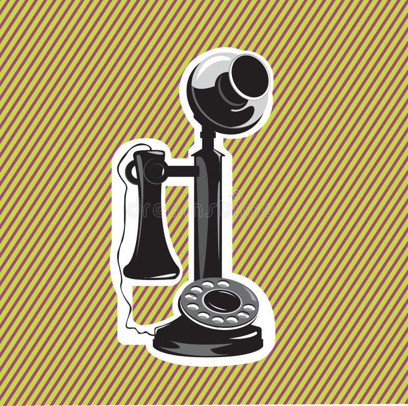 stary telefon ilustracja wektor