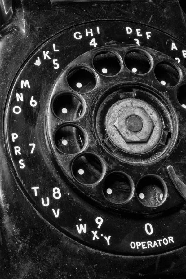 Stary telefon - Antykwarski Obrotowej tarczy telefon III obrazy royalty free