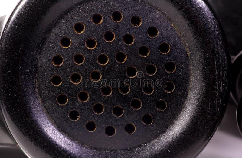 Download Stary telefonu odbiorcy obraz stock. Obraz złożonej z dziury - 129493