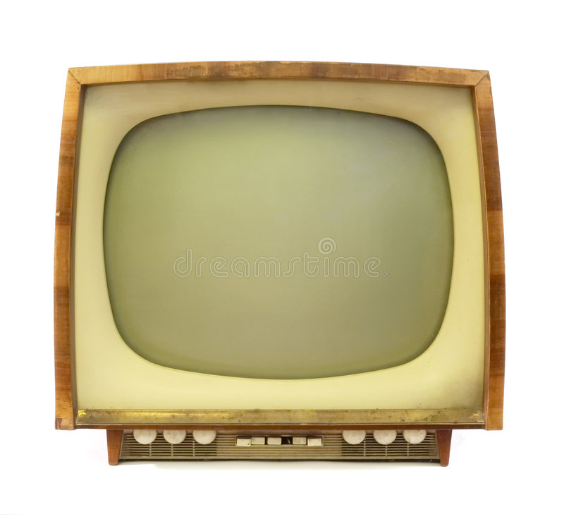 stary telewizor zdjęcia royalty free