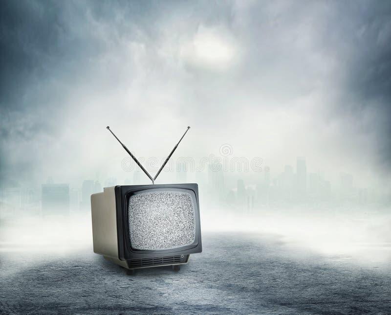 stary telewizor zdjęcie stock