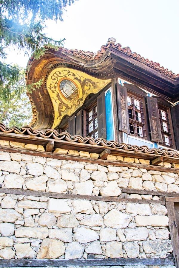 Stary tradycyjny bulgarian dom zdjęcie royalty free