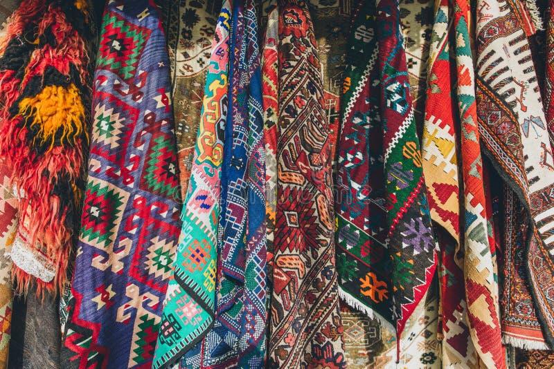 stary tradycyjny Turecki dywanu sklep obraz royalty free