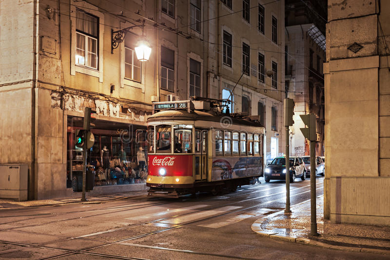 Stary tramwaj, Lisbon zdjęcia stock