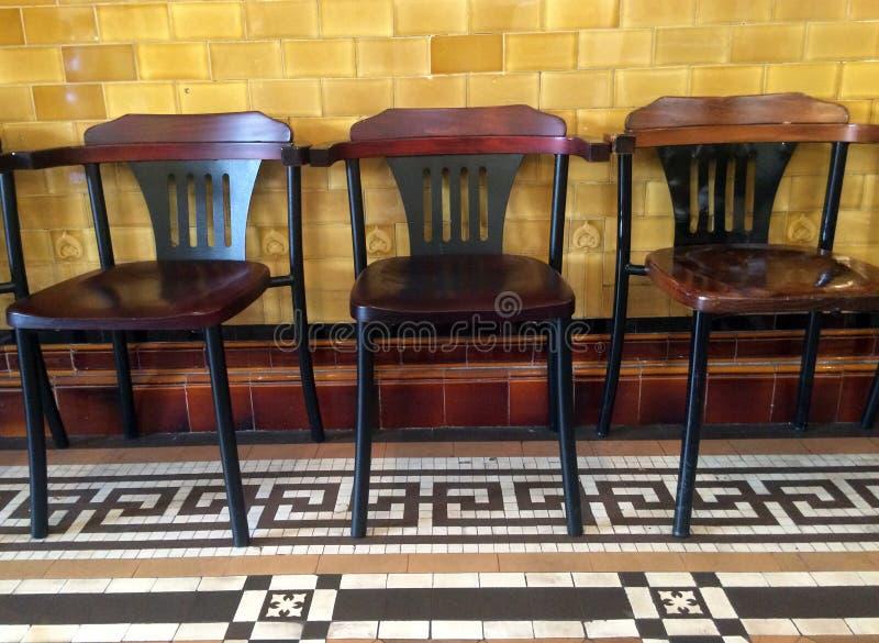 Stary trzy krzesła zdjęcia royalty free