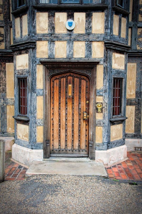 Stary Tudor drzwi zdjęcia stock