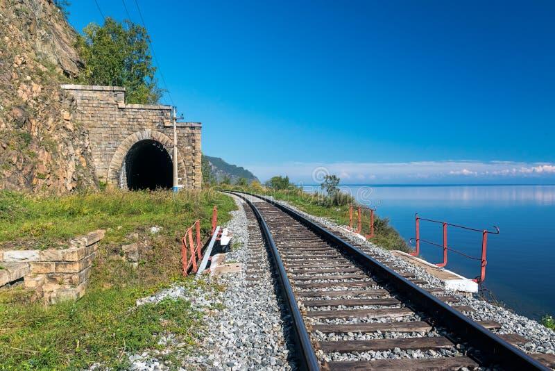 Stary tunel na Baikal kolei fotografia royalty free