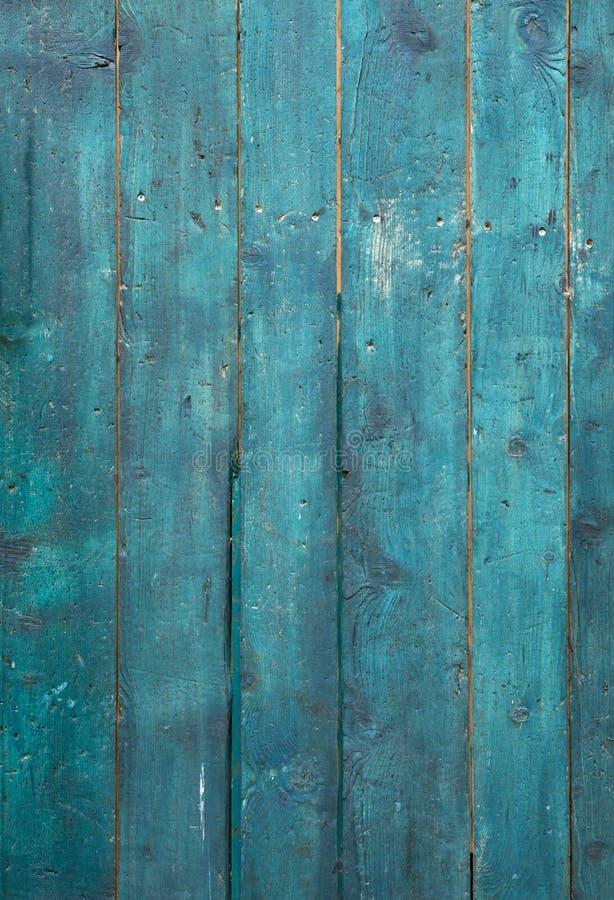 Stary Turkusowy drewno fotografia stock