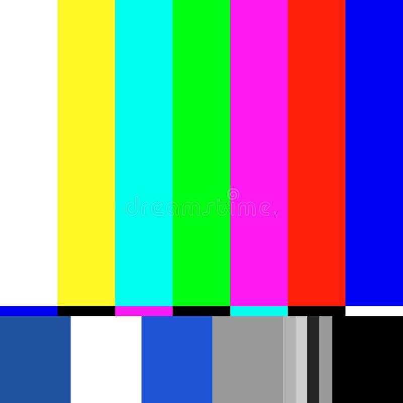 Stary tv testa ekran Retro żadny korytkowy sygnałowy screensaver royalty ilustracja