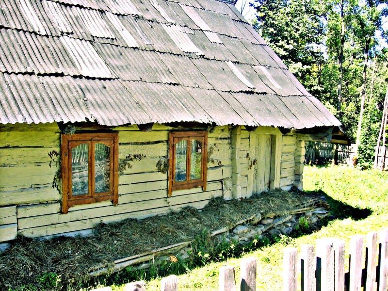 Stary Ukraiński drewniany dom zdjęcie stock