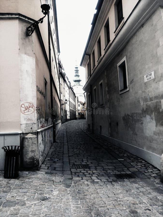 stary ulicą miasta zdjęcie stock