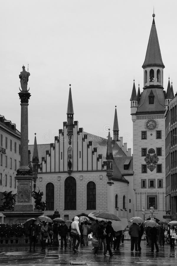 Stary urząd miasta. Monachium. Niemcy obrazy royalty free