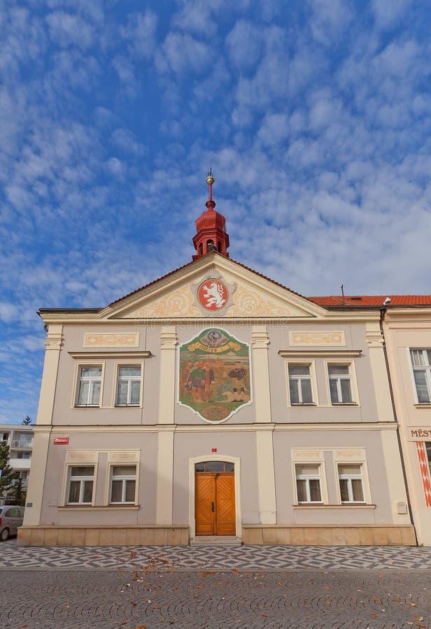 Stary urząd miasta w Brandys nad Labem, republika czech obraz royalty free