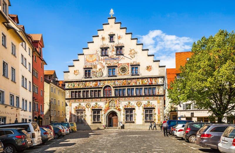 Stary urząd miasta w Lindau fotografia stock