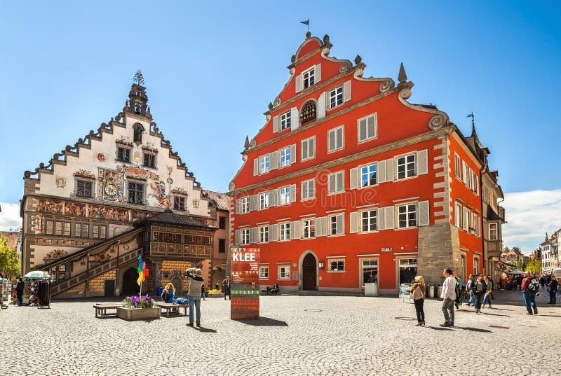 Stary urząd miasta w Lindau, Jeziorny Constance, Bavaria, Niemcy fotografia stock