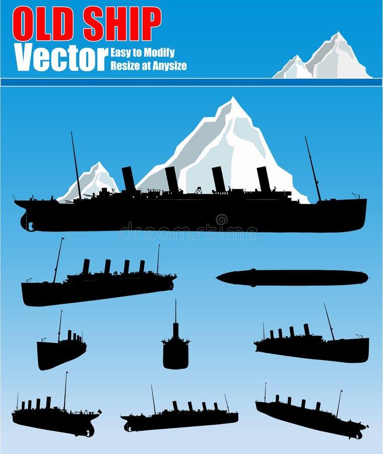 stary ustalony statek ilustracji