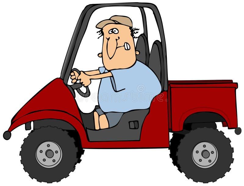 stary utv jazdy pojazdu royalty ilustracja