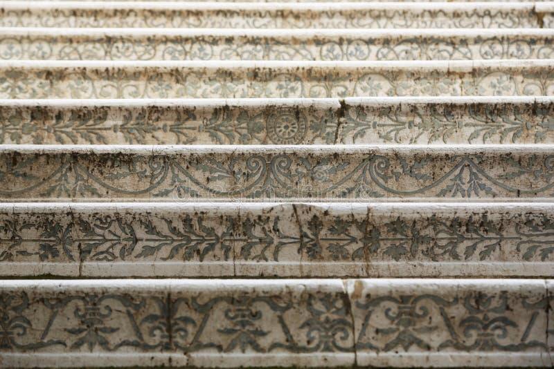 Stary Włoski schody zdjęcie stock