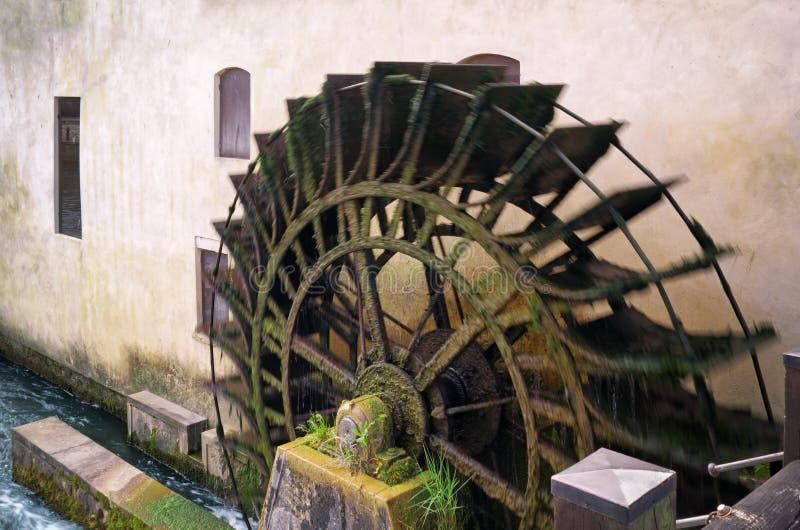 Stary Watermill w akci obraz royalty free