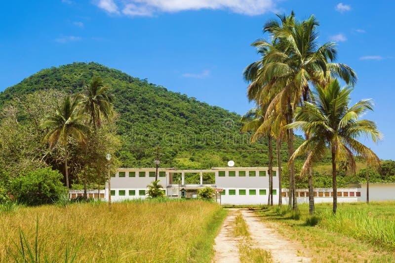 Stary więzienie w Ilha Grande, Rio De Janeiro, Brazylia obrazy royalty free