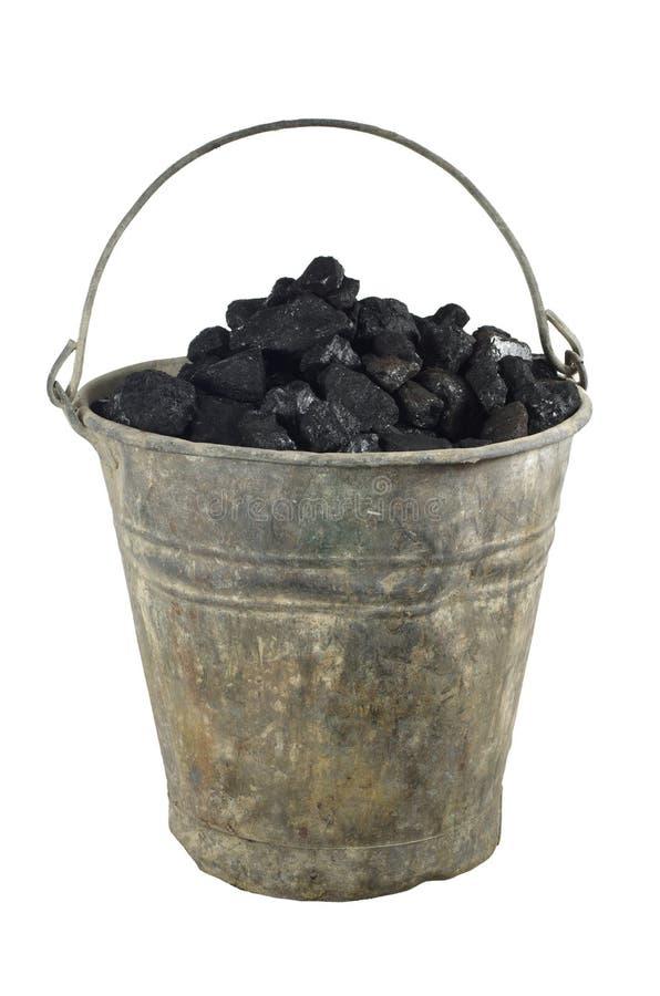 Download Stary wiadro z węglem zdjęcie stock. Obraz złożonej z zły - 28960404