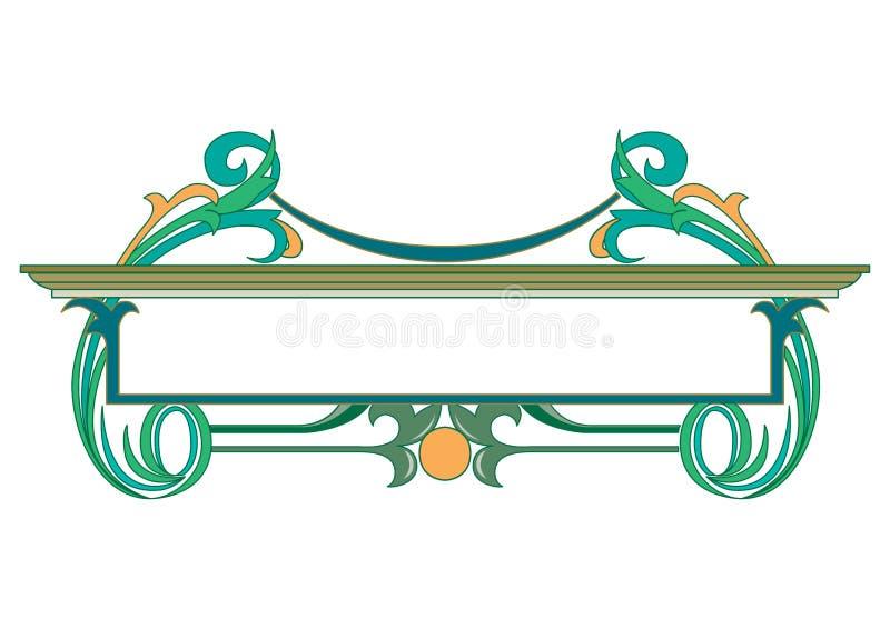 Stary ?wiat Graniczy wektor i kwitnie struktura Dekoracyjnego Eleganckiego styl - Kafelkowa rama w ro?lina li?ciach ilustracji