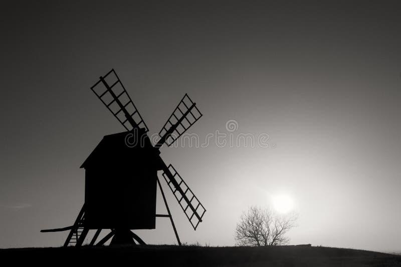Stary wiatraczek Szwecja obrazy stock