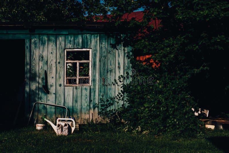 Stary wieśniaka gospodarstwa rolnego dom zdjęcia royalty free