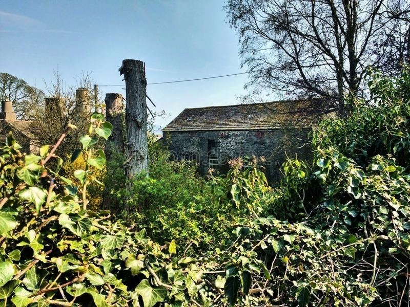 Stary wiejski dom wiejski z rocznik fotografii stylem obrazy stock