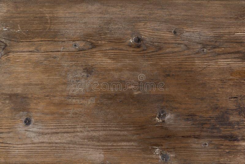 Stary wiejski drewniany kawałek drewna brązu kolory, szczegółowa deski fotografii tekstura zdjęcie stock