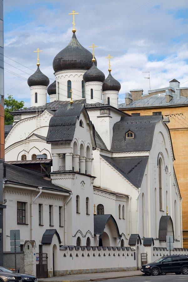 Stary wierzącego ` s kościół Świętej dziewicy Znameniya kościół St Petersburg, Rosja obraz royalty free